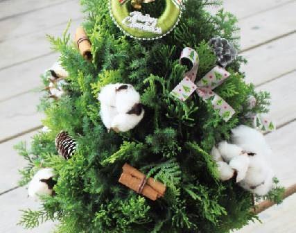 手作聖誕樹 花藝課程開課